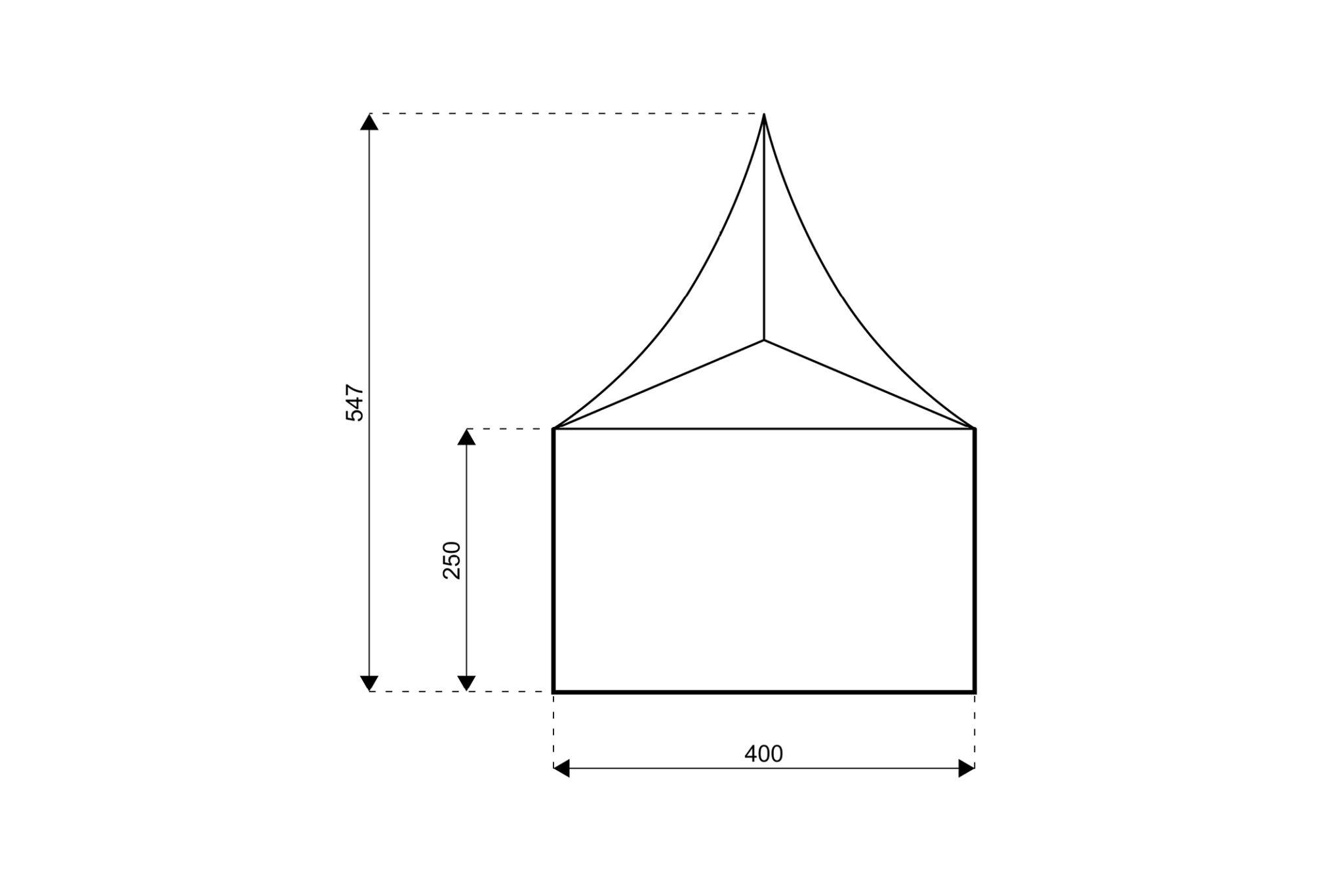 Topptält 4x4