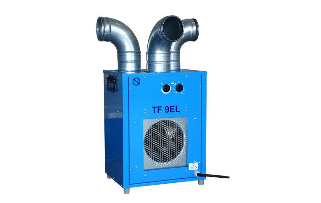 Värmare till tält: luftvärme, infravärme Facio