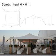 Stretch 6x6 m