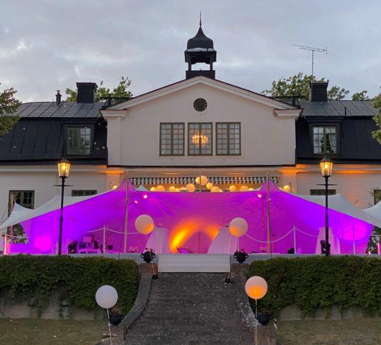 Bröllopstält utomhus
